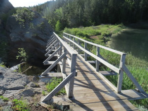 Iron Creek Lake bridge