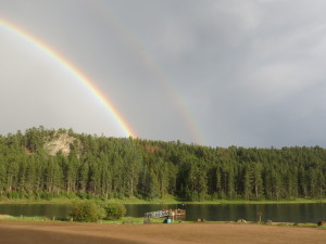 Iron Creek Lake rainbow after the rain